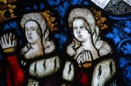 Herzog Albrecht III. und Beatrix von Zollern, Glasfenster im Wehrturm. ©W. Paminger
